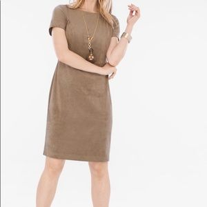 Chico's Faux Suede Dress EUC